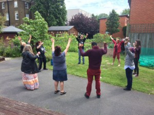 Laughter Yoga Workshop at St Mungo's Wellbeing Day